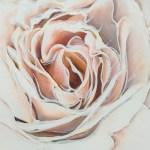 FLOWERS91 quadro moderno su tela con fiori floreale rosa rose gigante