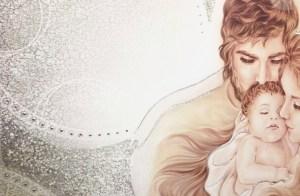 PRESTIGE203 Capezzale quadro moderno su tela sacro madonna con bambino per la camera da letto - Dettaglio