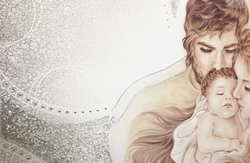 PRESTIGE203 Capezzale moderno sacro, Madonna con bambino ...