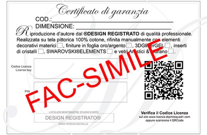Certificato di garanzia con Codice licenza
