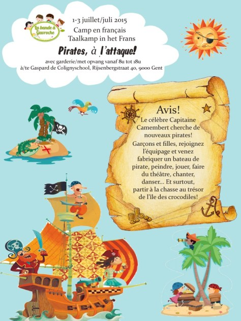 affiche stage été 2015 pirates