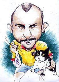 Caricatura del autor. Obra de NIKO (David Nikolalde).
