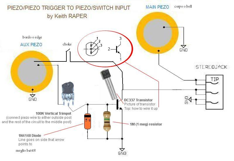 Piezoelectric Triggered Switches Controlcircuit Circuit Diagram