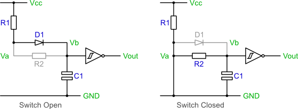 3 phase start stop switch wiring diagram process template word debouncing the lab book pages circuit in open and closed states