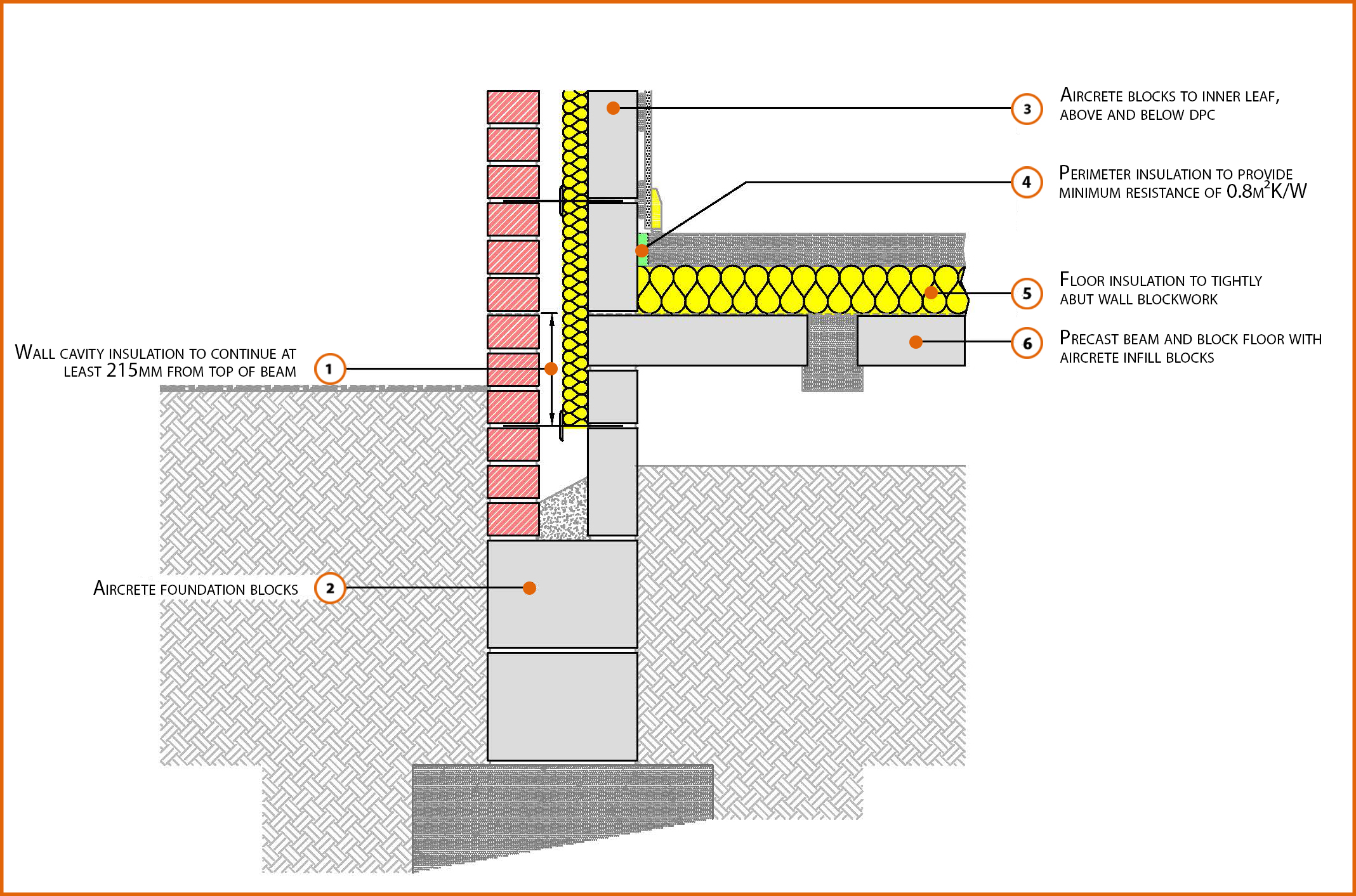E5mcpf21 Suspended Beam And Block Floor Insulation Above