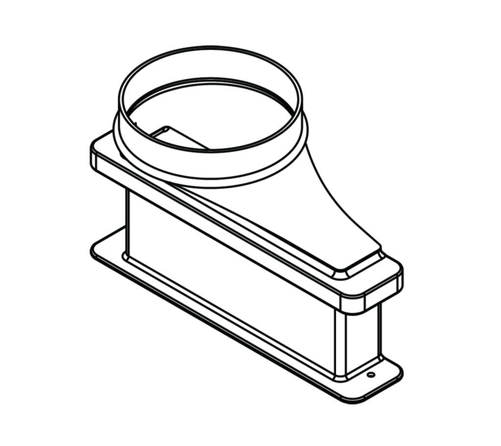 Lower Exhaust Transition Adapter 6 Diameter
