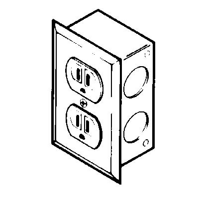 Duplex Electrical Receptacle Kit, 115 volts, 20 amps AC