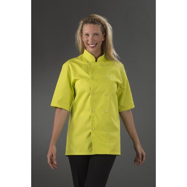 veste de cuisine originale coloris vert lime