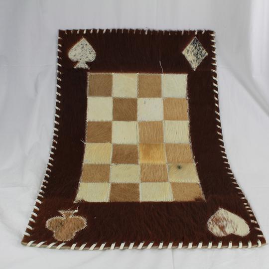 tapis de jeu de carte cuir et feutre