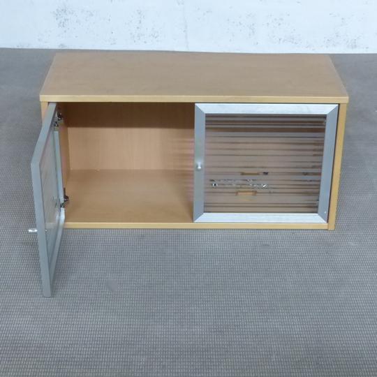 meuble rangement murale cuisine ikea en melamine finition bouleau 84x36x43cm marron