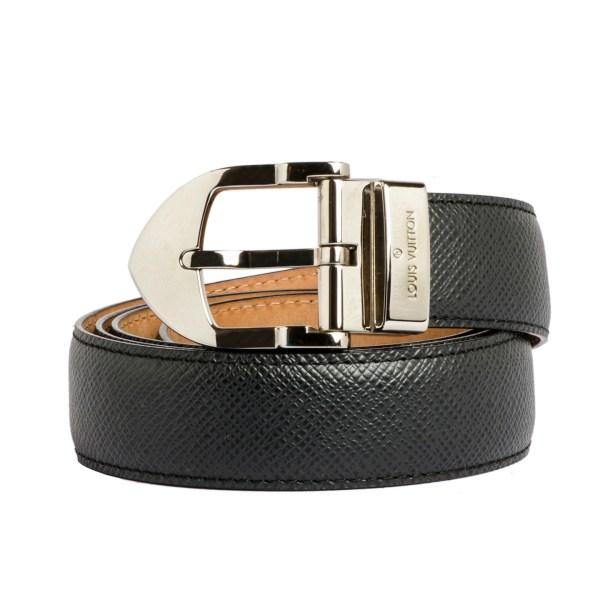 Louis Vuitton Ceinture Buckle Black Leather Belt