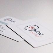 Création de Cartes de visite pour Cinphoni - Label Communication