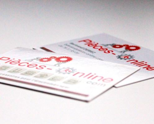 Cartes de visite pour Pièces-Online.com - Label Communication