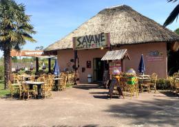 Seconde entrée du restaurant La Savane Express - Planète Sauvage - Port Saint Père (44) - Label Communication
