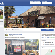Page publique Facebook pour le Restaurant Savane Express - Label Communication