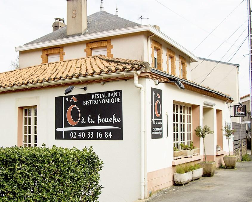 Façade L'Ô à la Bouche, restaurant bistronomique à Vertou (44)
