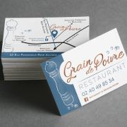 Création de Cartes de visite du restaurant Le Grain de Poivre à Nantes