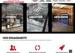 Refonte de site internet Miroiterie Nantaise