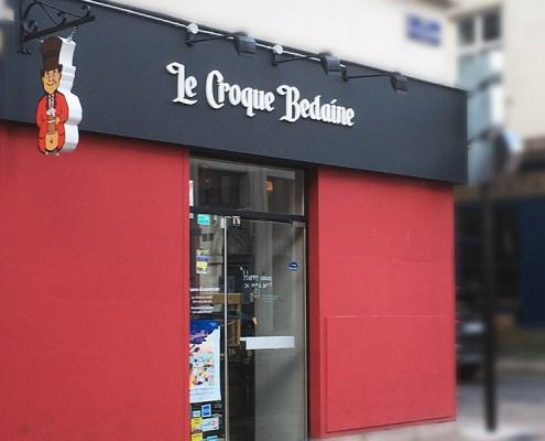 Enseigne du restaurant Le Croque Bedaine à Nantes (44)