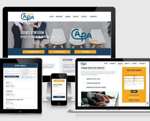 Création du site internet de l'agence d'intérim CAPA Group
