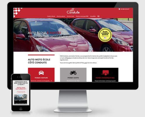 Côté Conduite - Création du site internet de l'auto-école à Nantes (44)