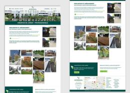 Morisseau Paysagistes Nantes - Création du site vitrine du paysagiste Morisseau Paysagistes à Nantes (44)