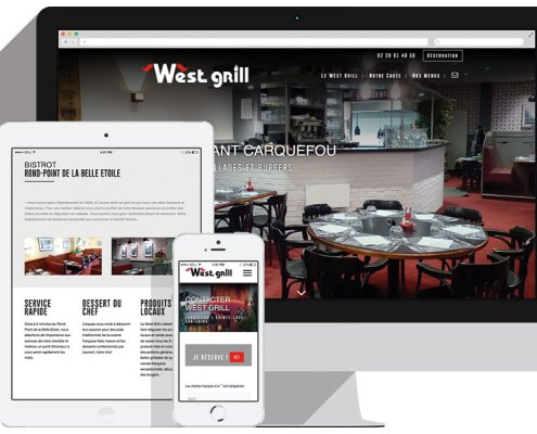 Un nouveau site pour West Grill - Site Responsive