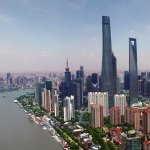 Bau des Shanghai Towers in weniger als drei Minuten