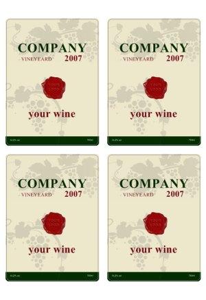 Free Wine Label Template wine labels custom luxury free