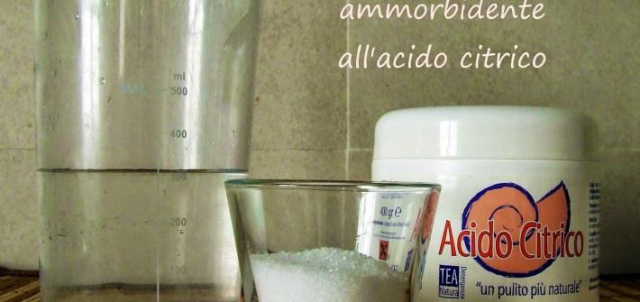 ammorbidente all'acido citrico