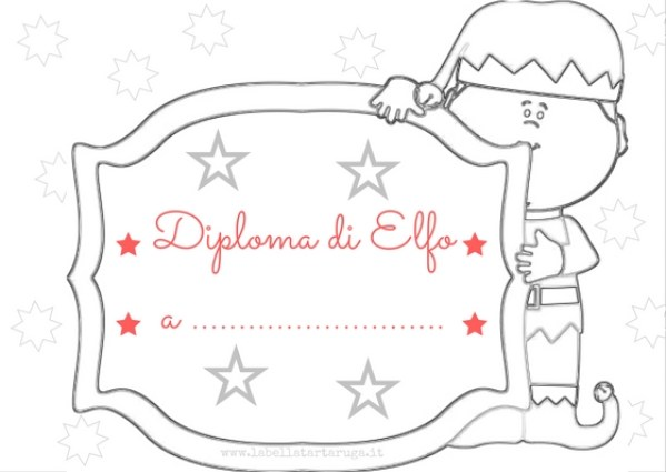 Diploma elfo calendario avvento