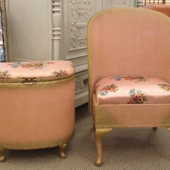 Bedroom Chairs And Ottomans Removable Dining Chair Seat Covers F403 S Charming Vintage Pink Ottoman