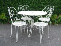 G181/S - Lovely Vintage French Wrought Iron Garden / Patio ...