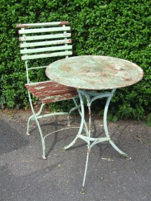G201 - Vintage French Single Folding Garden Patio