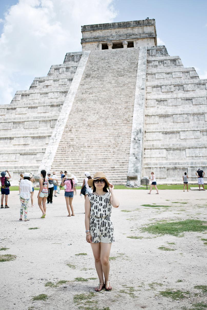 Cancun Day Two Chichen Itza  Lace Romper  LaBelleMel