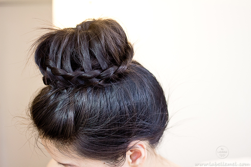 How To Tutorial Lace Braided Donut Bun LaBelleMel