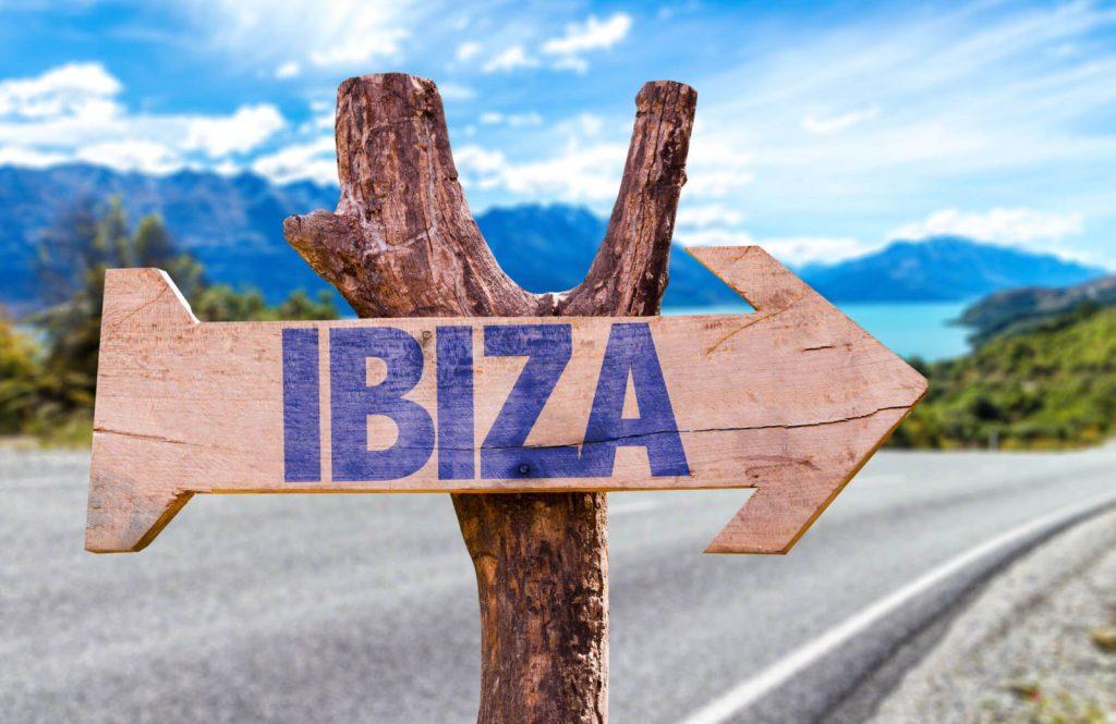 sign written which way to ibiza