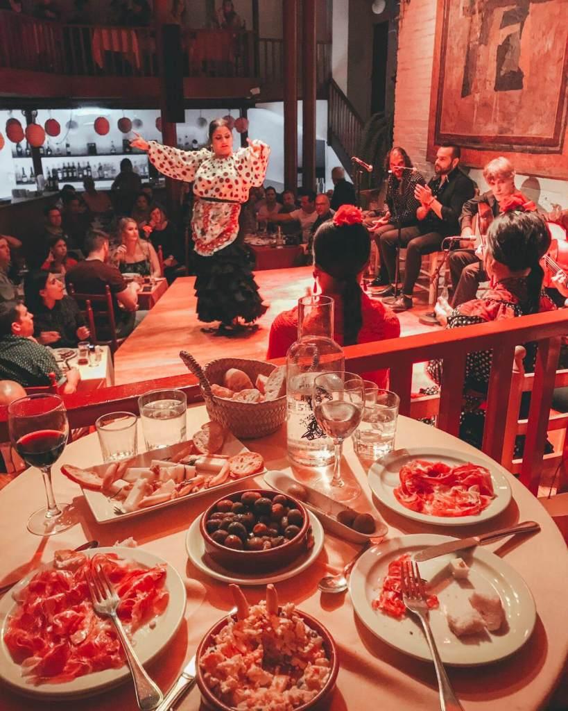 Flamenco dancer in Barcelona at Tablao de Carmen