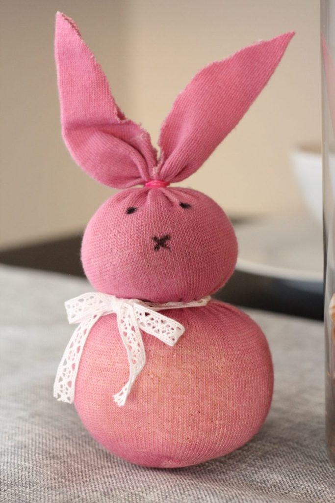 Top 10 DIY Easter Crafts for Toddlers and Kids | Find easy DIY Easter crafts ideas, such as how to make baskets, homemade decorations, eggs, and Easter bunnies. Perfect spring fun for toddlers and for kids | Sock Bunnies