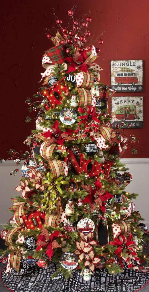 Joy to the World Christmas Tree | Want ideas for unique Christmas trees for the 2020 holiday season? Find inspiration ideas for your Christmas tree decoration from creative and unique xmas trees. From white, upside down, best Christmas trees on wall, pink Christmas trees, and even Disney Christmas tree decorations. From big and small unique Christmas tree ideas. Perfect for kids and for the holidays. #uniquechristmastree #christmastreeideas #christmastreeideas #christmas