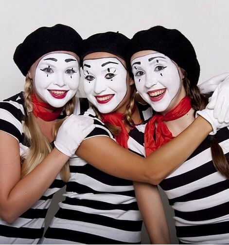 3 Mimes Halloween Costume | The best group Halloween costumes for girls