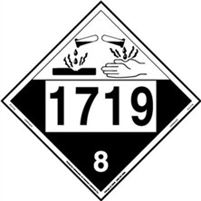UN 1719 Corrosive Placards from Labelmaster