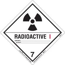Worded Radioactive I Labels from Labelmaster