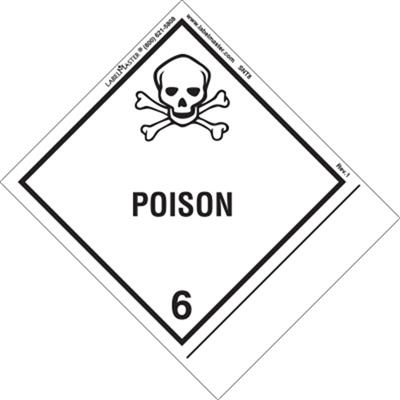 Poison Label, Blank, Shipping Name, Paper, Standard Tab
