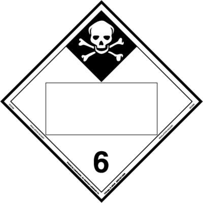 Inhalation Hazard Placard, Blank, E-Z Removable Vinyl