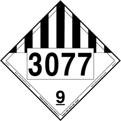 Miscellaneous Dangerous Goods Placard, UN 3077, Rigid