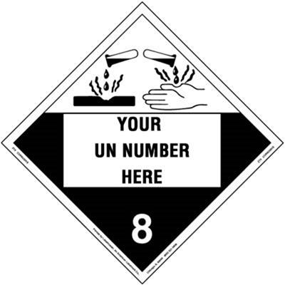 Personalized Imprinted 4-Digit Corrosive Removable Vinyl