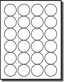 1 inch Diameter Labels Inkjet Printers