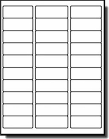 Blank Printable 2 58 X 1 Inch Labels Uline S 5042