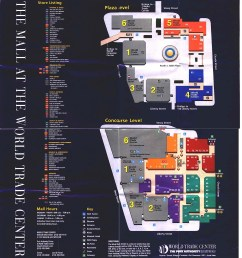 world trade center directory map from 1999 or 2000 world trade center mall  [ 1296 x 1440 Pixel ]